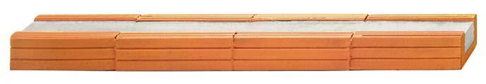 Fiedler Deckensysteme Baustoffe Ziegelsturz B / H = 11,5 / 7,1 cm