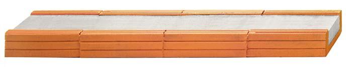 Fiedler Deckensysteme Baustoffe Ziegelsturz B / H = 17,5 / 7,1 cm