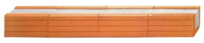 Fiedler Deckensysteme Baustoffe Ziegelsturz B / H = 11,5 / 11,3 cm