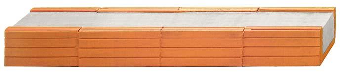 Fiedler Deckensysteme Baustoffe Ziegelsturz B / H = 17,5 / 11,3 cm