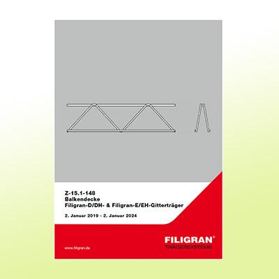 Abbildung Titelseite Zulassungsbescheid Filigran D/DH Gitterträger