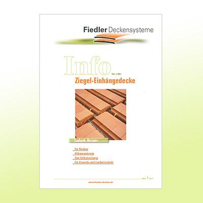 Abbildung Titelseite Fiedler Info Ziegel-Einhängedecke
