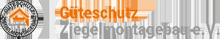 Logo und Schriftzug Güteschutz Ziegelmontagebau e.V.