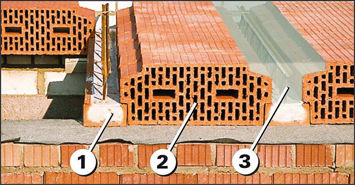 Fiedler Deckensysteme Aufbau Ziegel-Einhängedecke