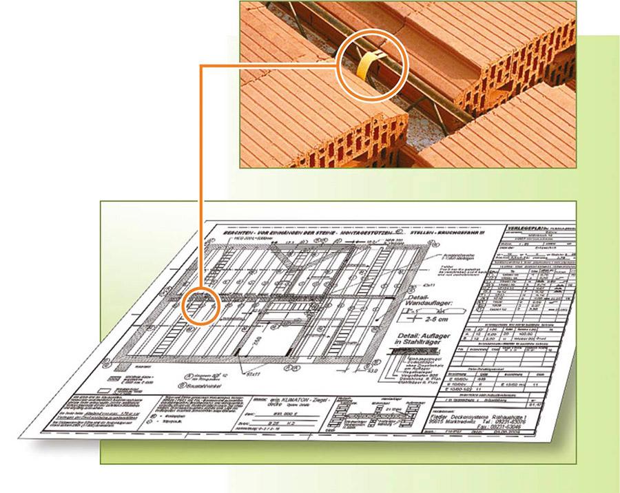 Fiedler Deckensysteme Ziegel-Einhängedecke Verlegeplan